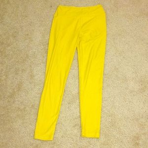 Lularoe Yellow Leggings One Size